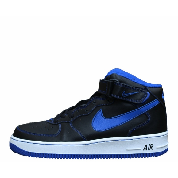 Nike Shoes Vintage 2002 Air Force 1 Mid Black Royal Blue Poshmark